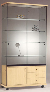 Vetrina mod easy con mobiletto vetrine da interno for Amm arredamenti