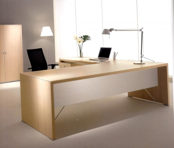 Scrivania in legno moderna design casa creativa e mobili for Consolle scrivania moderna