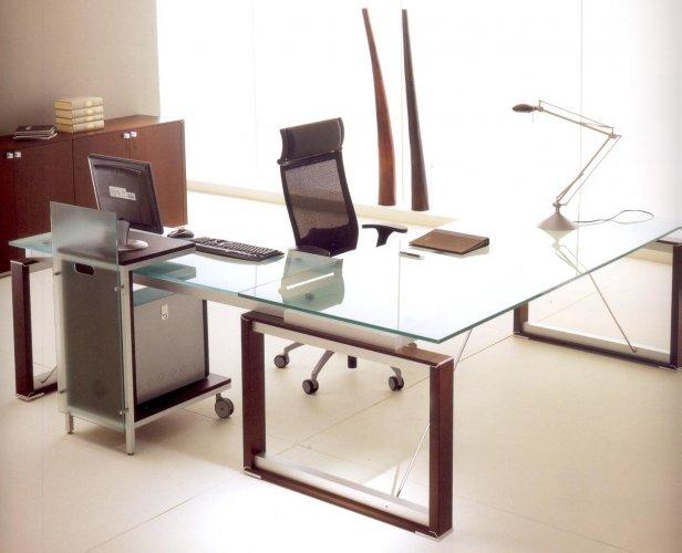Beautiful scrivania electa fianchi piano vetro bon with scrivanie in legno - Scrivanie legno design ...