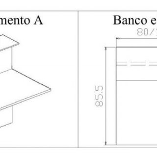 Banco reception mod. Led - Modulo A